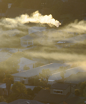 DIRTY AIR: Early morning smog over Moncks Bay, Christchurch in August last year.