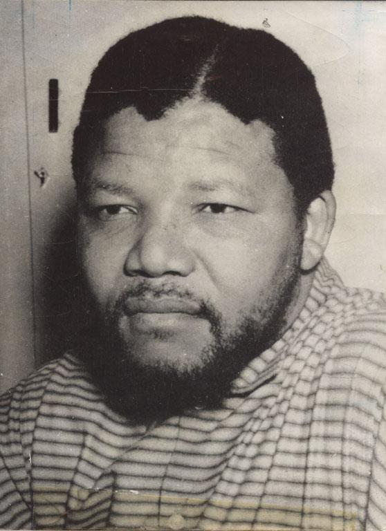 "Mandela in 1964, aged 45 awaiting his sentence after being accused of planning a ""violent revoloution"" against South Africa's racist policies."
