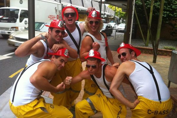 Members of 'The South Auckland Fire Department'.