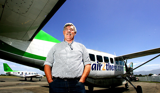 BRING IT ON: Air2there owner Richard Baldwin beside one of his Cessna Caravan aircraft. Photo: ANDREW GORRIE.