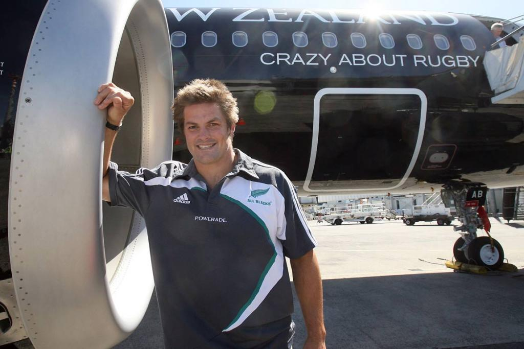 FLYING: Richie McCaw at Auckland Airport.