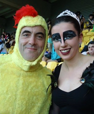 James Nesbitt and Sophie Bennett