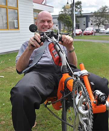 CYCLING CARETAKER: The Stratford District Council is in good hands with acting chief executive Mike Avery leading the way.