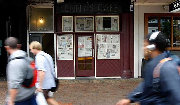 For 28 years, Kenny's Cafe in Courtenay Place was a bastion of cheap meals that must have given heart surgeons palpitations.