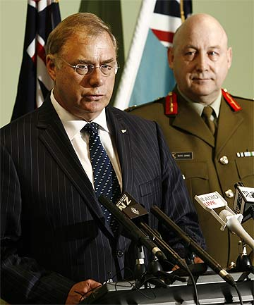 """SOLDIER DEATH: Defence Minister Wayne Mapp called the killed soldier a """"fine young man""""."""