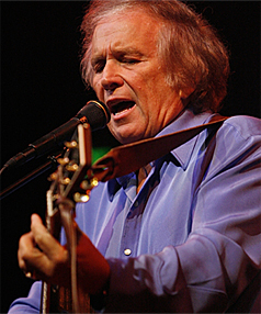 Don McLean performing at the Christchurch Town Hall.