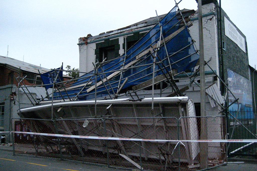 Damage in Lyttleton