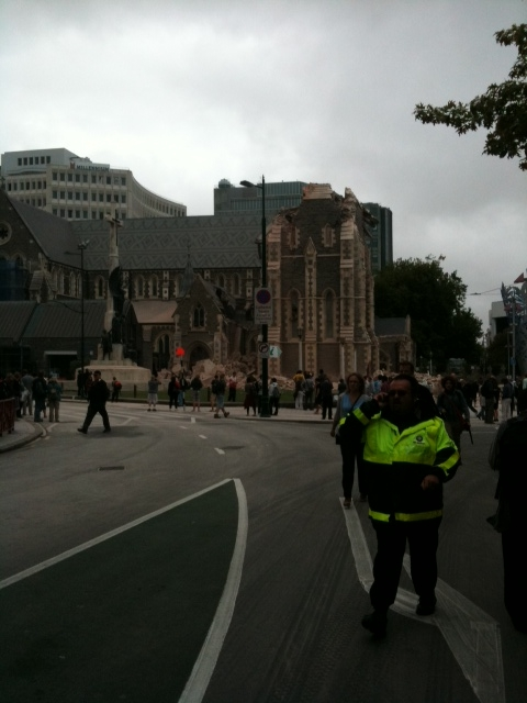 Cathedral Minutes after quake Tues Feb 22, 2010