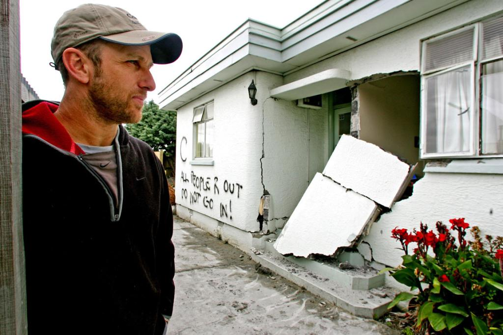 Palmers street resident Todd Roydon next to his house which has been condemed.