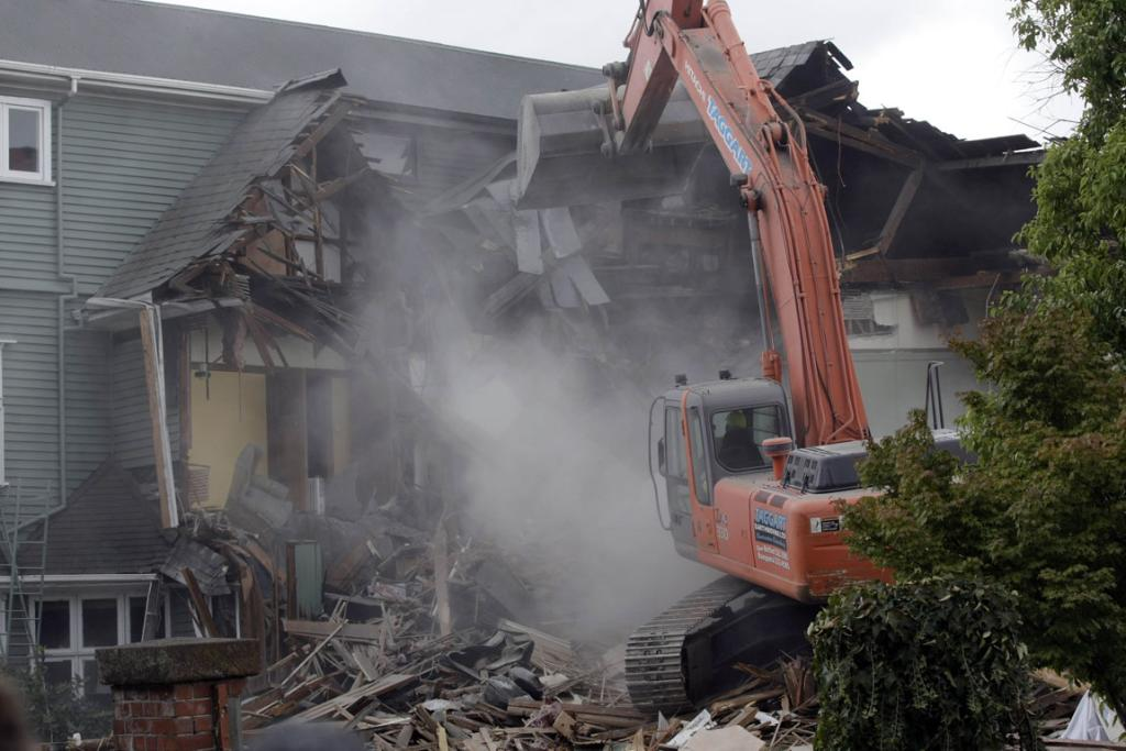 Brent Smith has had his house destroyed after it was severly damaged after both quakes.