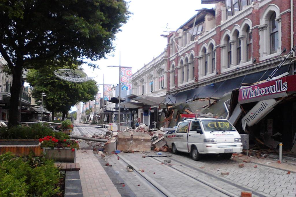 Damage from the earthquake.