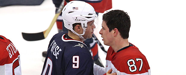 USA and Canada face off at last year's Winter Olympics.