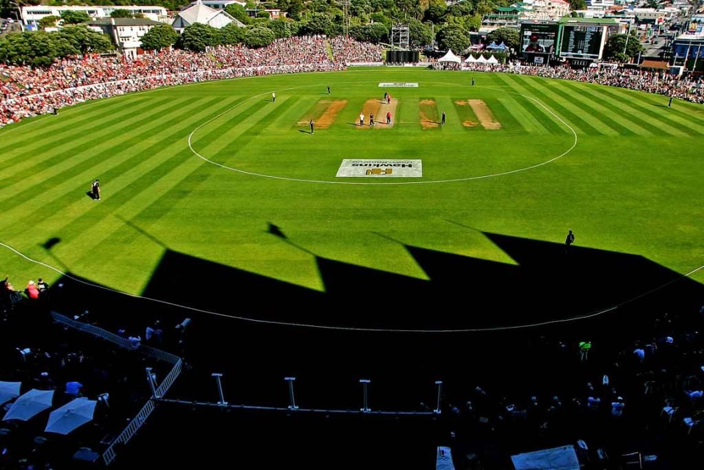 A sold-out Basin Reserve during Fill The Basin For Christchurch charity match.