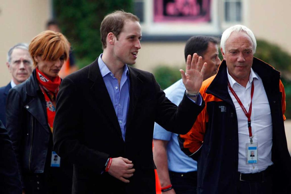 Prince William with Christchurch Mayor Bob Parker.