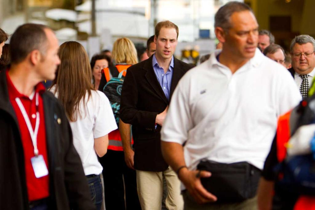 Prince William in Christchurch's Red Zone.