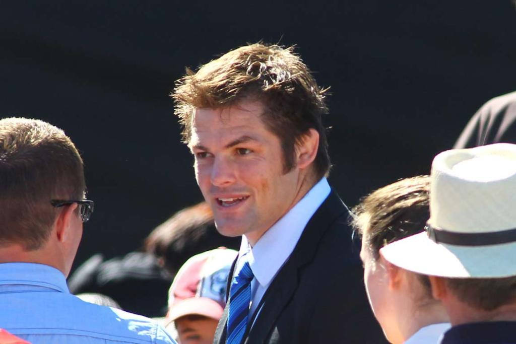 All Black captain Richie McCaw at the national Christchurch earthquake memorial service.