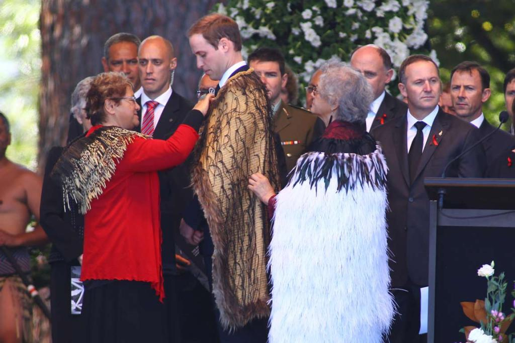 Prince Williamn onstage at the national Christchurch earthquake memorial gallery.