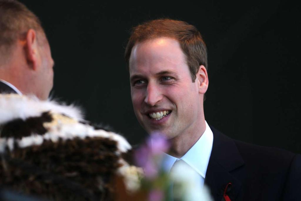 Prince William onstage at the national Christchurch earthquake memorial service.