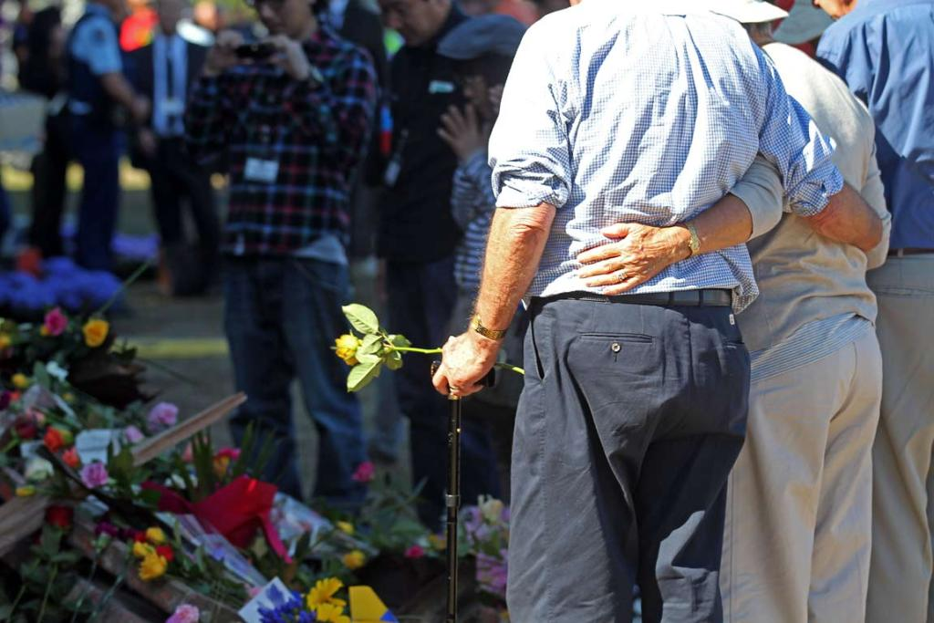 Families, relatives, dignitaries and royals gather at the national Christchurch earthquake memorial service.
