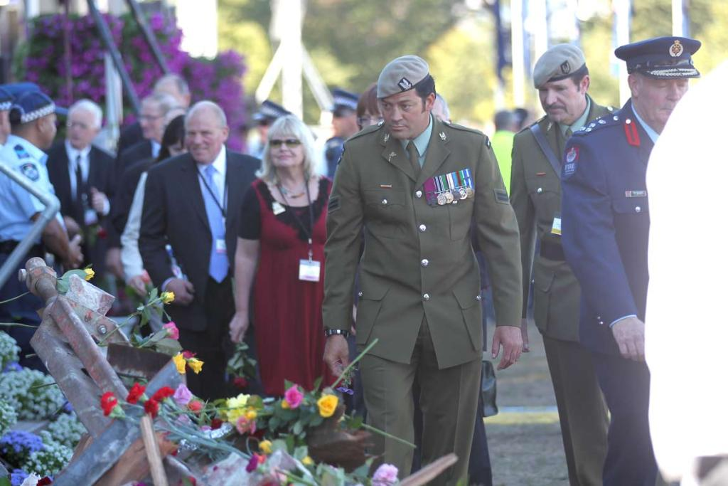 Corporal Willie Apiata at the national Christchurch earthquake memorial service.