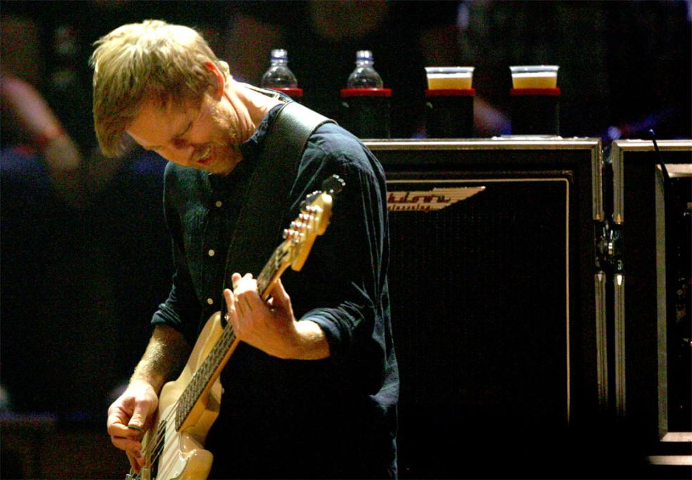 Foo Fighters bass player Nate Mendel.