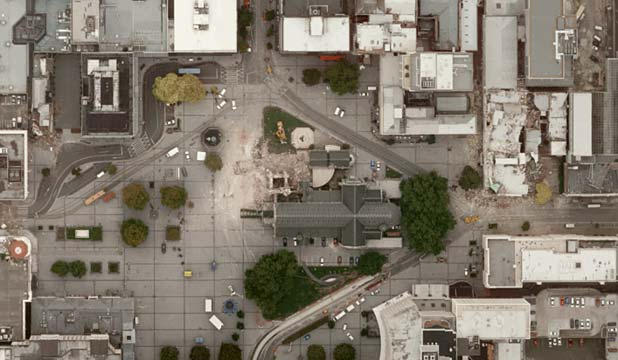 BIRD'S EYE VIEW: Christ Church Cathedral from above.