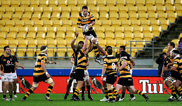 PLENTY OF ROOM: Wellington take on Taranaki in the ITM Cup, but the large number of empty seats are indicative of the Wellington union's off-field challenges.