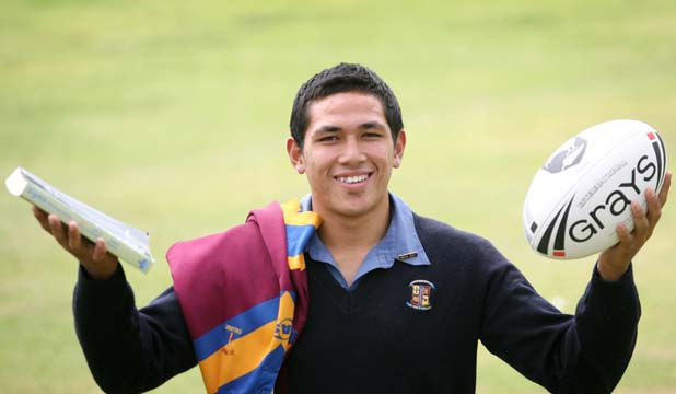 HIGH ACHIEVER: St Pauls head boy and Warriors Development Team member Michael Sio is finding the right balance between the ball and his books.