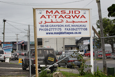 Spying complaint: Leaders at this Manukau mosque were shocked to discover that the SIS gave Wardle jihadist material to hand out.
