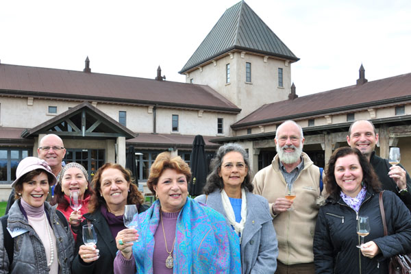 In force: An exchange group from the Brazil's Florianopolis branch of the international group Friendship Force   visited Brancott Estate (formerly Montana) last week with their Blenheim counterparts on a wine-themed trip