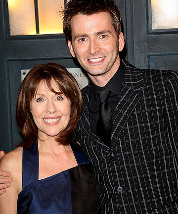 Elisabeth Sladen and David Tennant