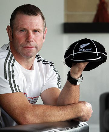 IF THE CAP FITS: Ex-All Blacks back Shayne Philpott with his cap.
