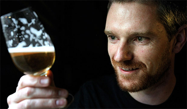 NO GIMMICK: Stu McKinlay considers this whisky-beer his best work, with a taste