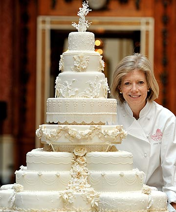Top Tier Fiona Cairns Stands Proudly Next To The Royal Wedding Cake That She And