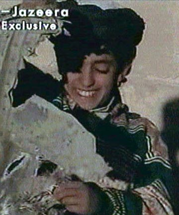 An undated Al Jazeera television picture purportedly shows Hamza bin Osama bin Laden.