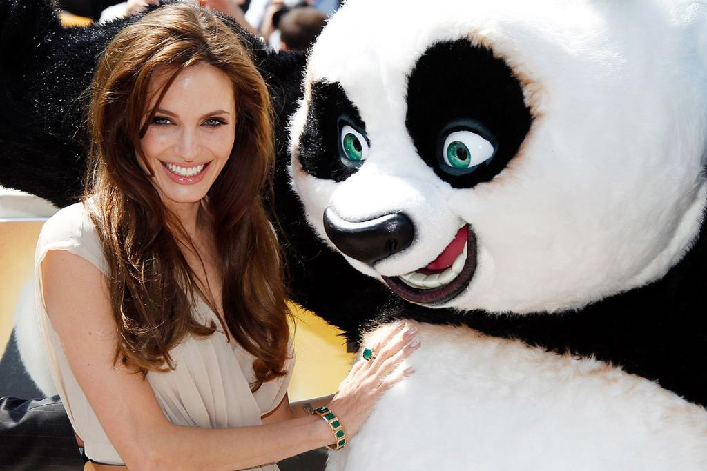 HEY GOOD LOOKING: Angelina Jolie poses during a photocall for the animated film Kung Fu Panda 2 during the Cannes Film Festival.