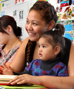 No regrets: Rayelene Mou with her two-year-old daughter Kiarnah Whaiapu-Mou at James Cook High School's Taonga Teen Parent Unit.