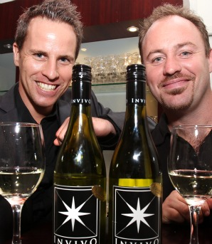 TV tipple: Invivo winemakers Tim Lightbourne, left, and Rob Cameron are jetting off to meet the likes of Elle Macpherson and Snoop Dogg on the televsion show of Graham Norton.