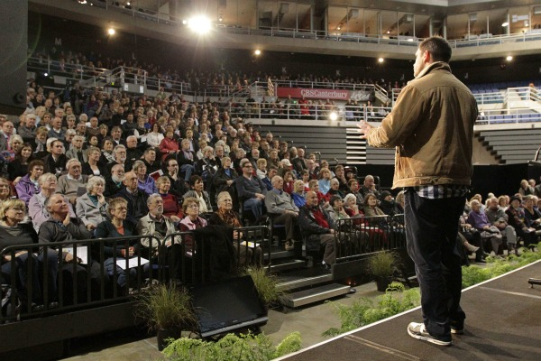 Mark Quigley from Canterbury University's Geological Sciences gives a seminar at this weekend's Share an Idea expo at the CBS Canterbury Arena in Christchurch this weekend.