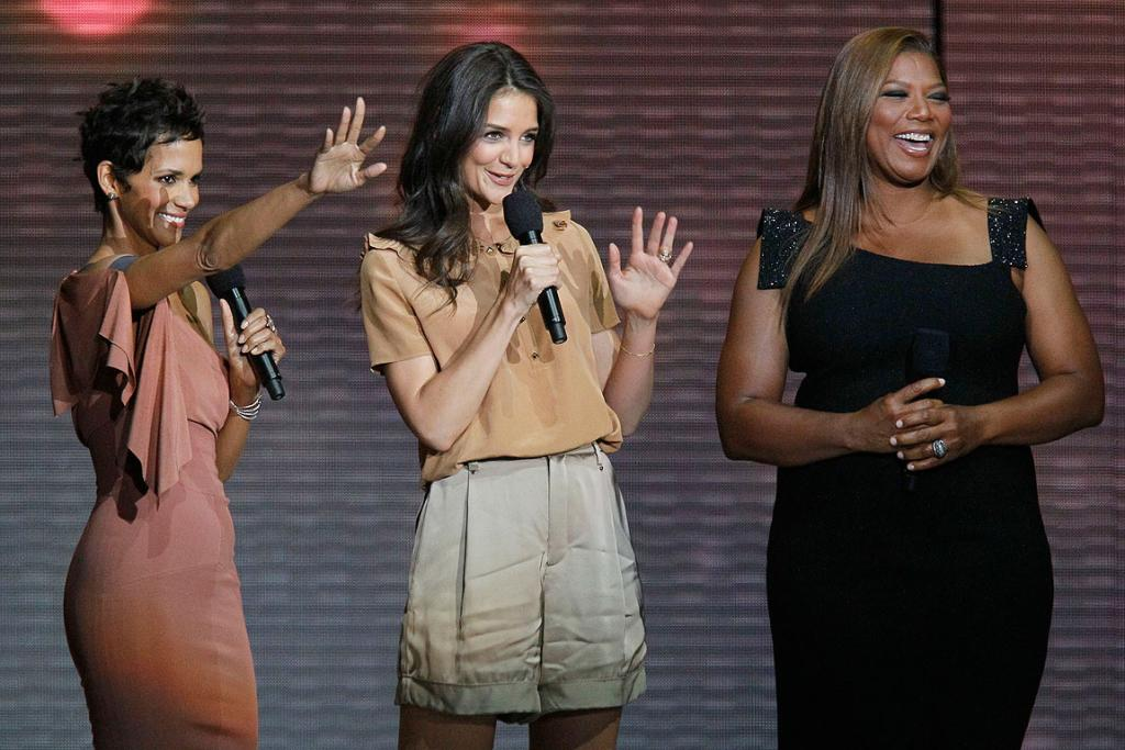 GIRLS IN THE HOUSE: Halle Berry, Katie Holmes and Queen Latifah farewell Oprah Winfrey during her final TV show.