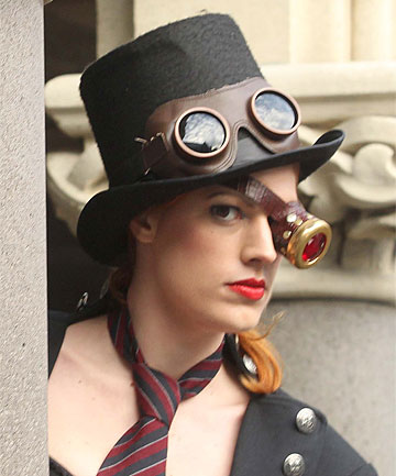 IN CHARACTER: Sara Scott styles a Steampunk look.
