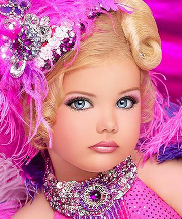 CHILD STAR: America's top child beauty pageant star Eden Wood as seen on her Facebook page.