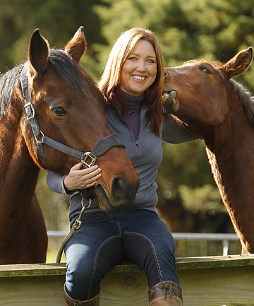 HORSE POWER: Kate Hinton set up a website selling horse-related products and has now opened a shop.