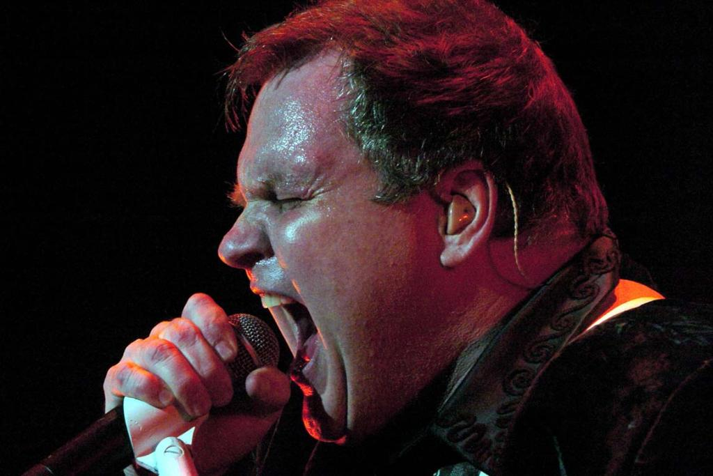 NOT JADED: Meat Loaf in concert at his final New Zealand performance, Jade Stadium, Christchurch in 2004.