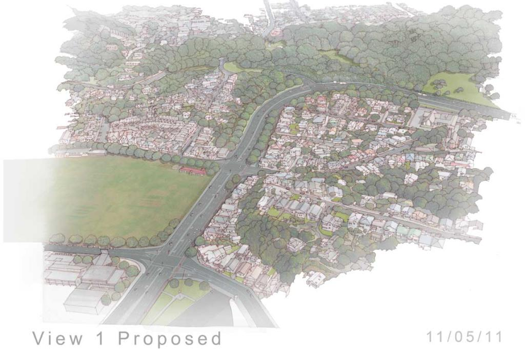 The proposed view of Mount Victoria, with Kilbirnie park on the left.