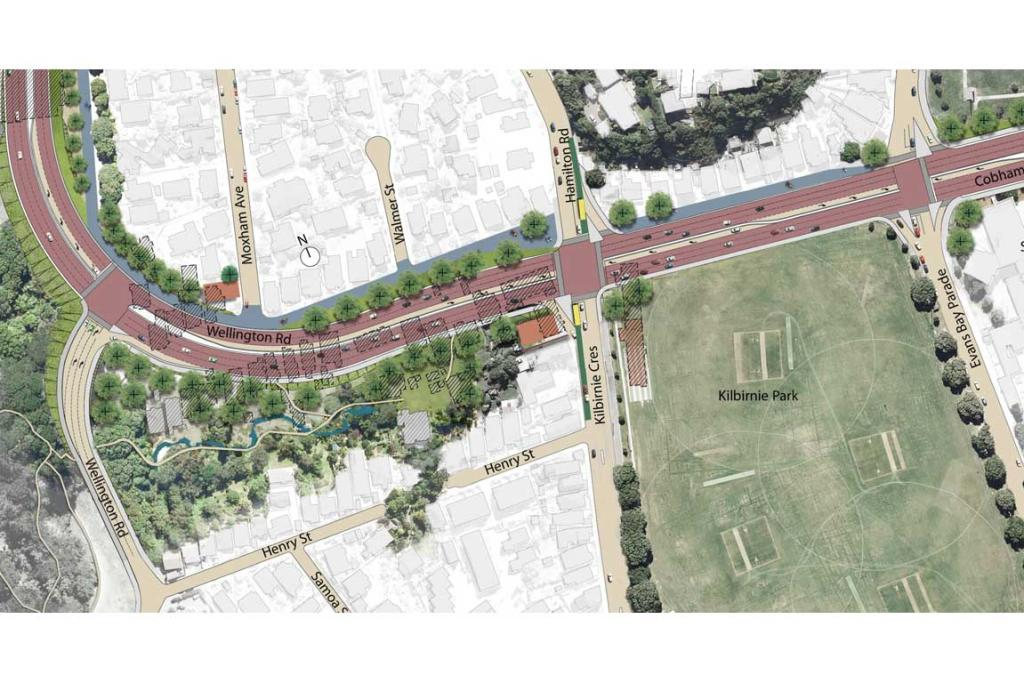 A view of the proposed Wellington Road.