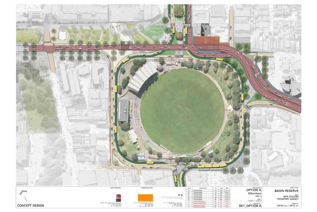 A proposed view of the Basin Reserve.