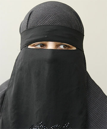 THE EYES HABIT: Adeeba Jabbar of Porirua in her full-face hijab, similar to  the clothing that resulted in two other women being refused bus service in Auckland.
