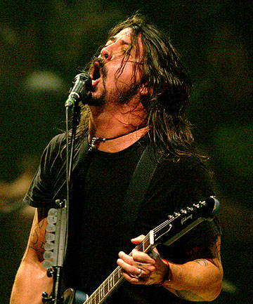 ROCK AND ROLL: Dave Grohl performs with the Foo Fighters at Auckland Town Hall in April.