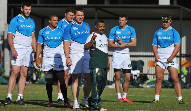 Springboks training